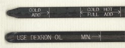 Oil Dipsticks with engraving